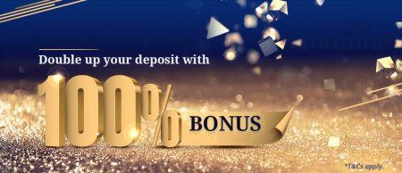 Bônus Binarium em seu primeiro depósito - Bônus de 100%