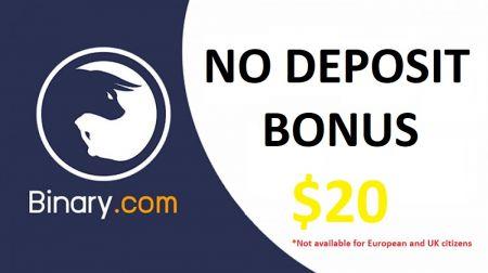 Binary.com Sem Bônus de Depósito - $ 20 grátis