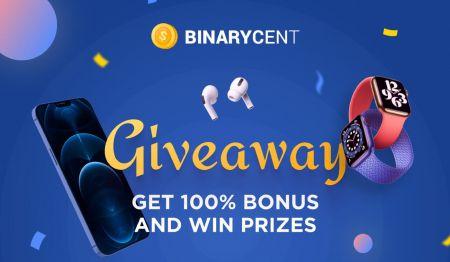 Binarycent जमा प्रोत्साहन - 100% बोनस तक
