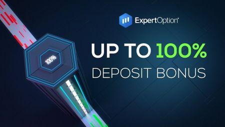 Khuyến mãi chào mừng ExpertOption - 100% tiền thưởng khi gửi tiền lên đến $ 500
