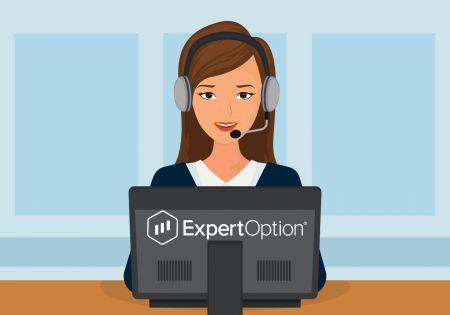 Cách liên hệ với bộ phận hỗ trợ ExpertOption