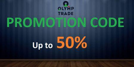 Mã khuyến mãi Olymp Trade - Tiền thưởng lên đến 50%