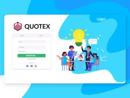 Comment créer un compte dans Quotex