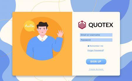 Comment s'inscrire et se connecter à un compte dans Quotex Trading Broker