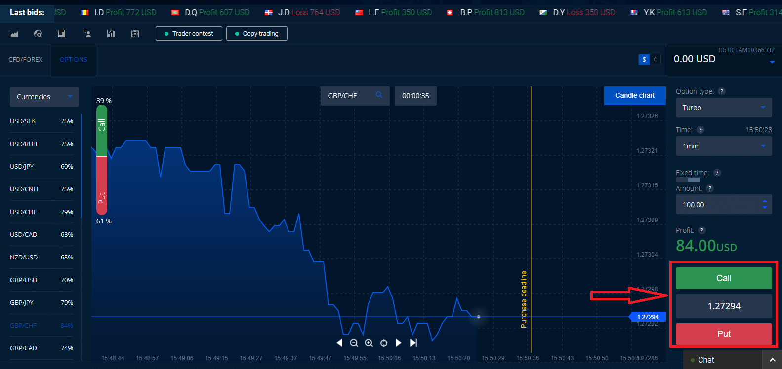 Frequently Asked Question (FAQ) of Trading in Binarycent