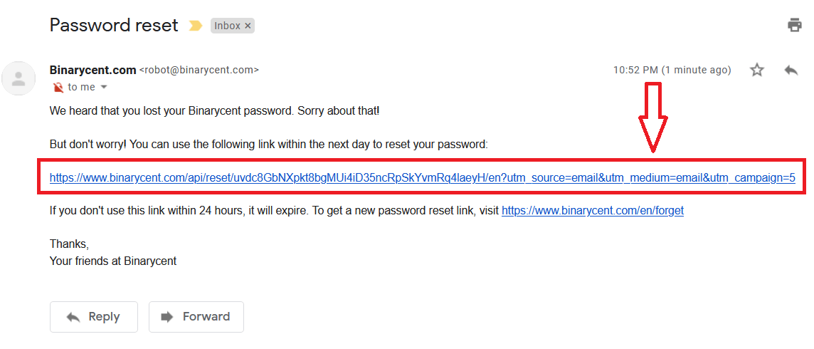 How to Login to Binarycent? Forgot my Password