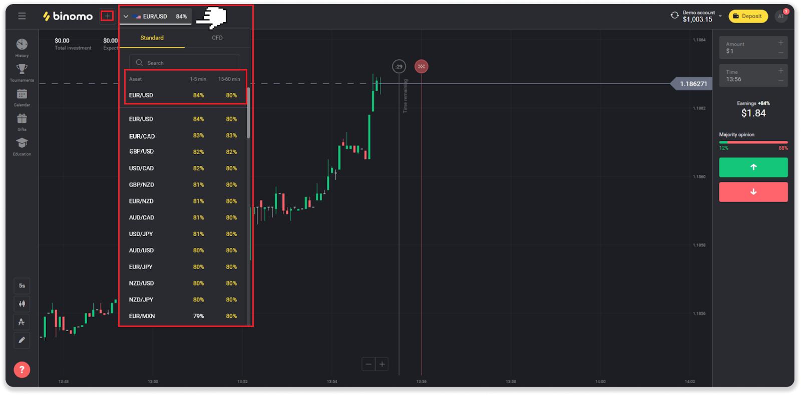 How to Login and start Trading at Binomo