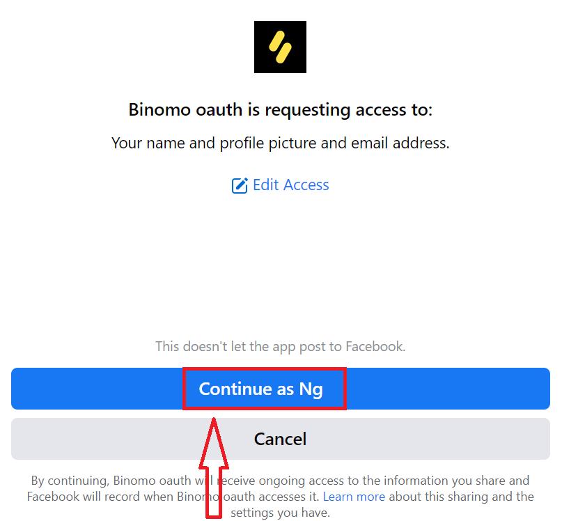 Comment ouvrir un compte de trading sur Binomo