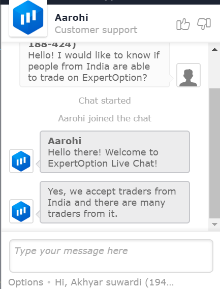 ExpertOption Broker Allows Traders From India