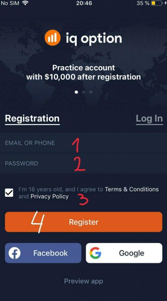 Comment enregistrer un compte IQ Option sur le Web et les applications mobiles?