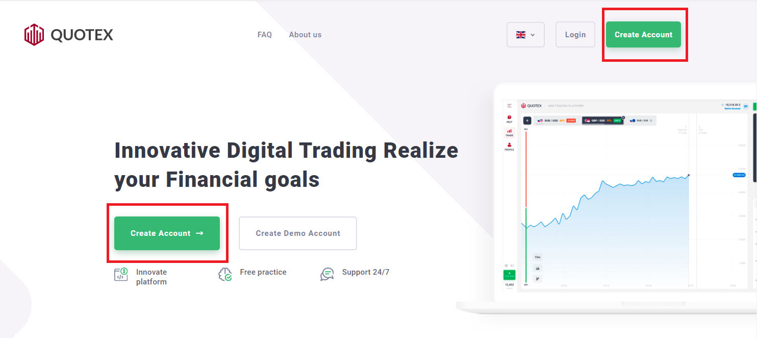 How to Register and Trade Binary Option at Quotex