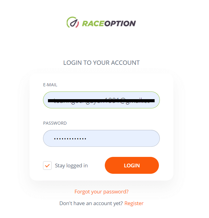 How to Open Account and Sign in to Raceoption