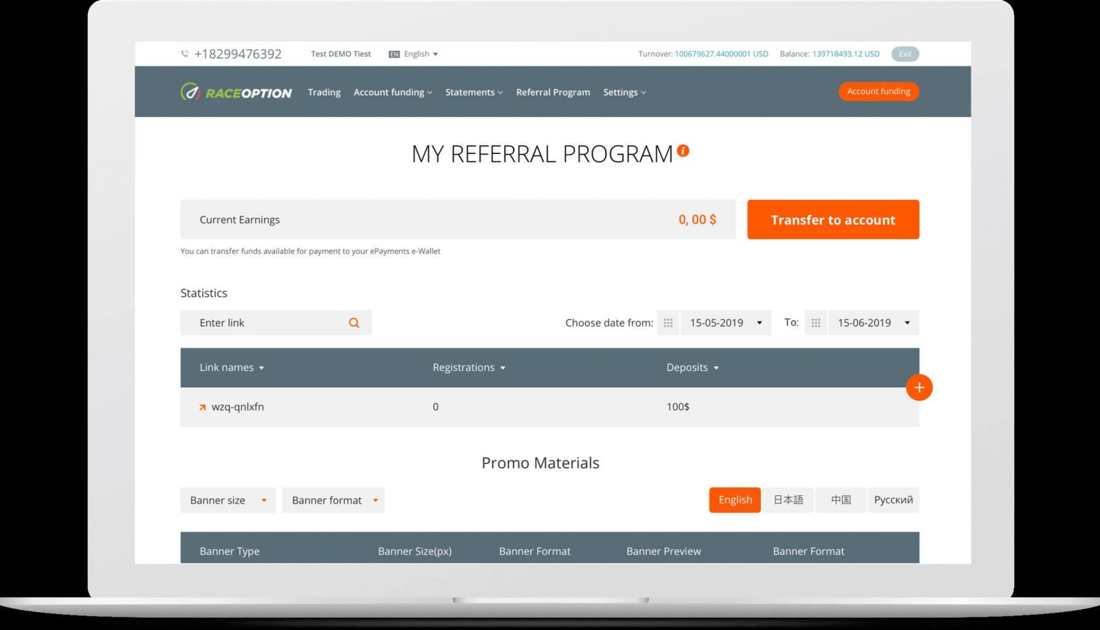 What is the Benefit of Raceoption Referral Program? Why Trader choose Raceoption
