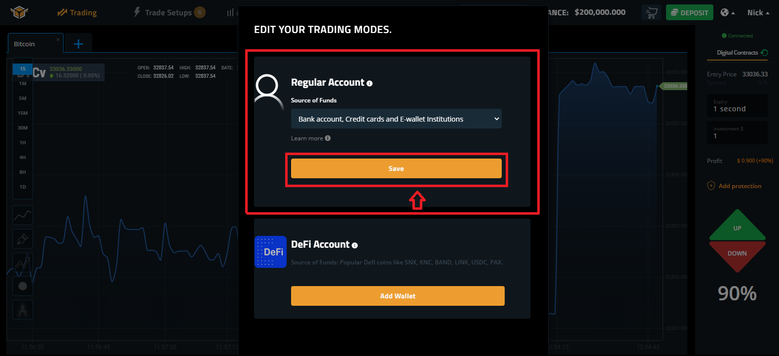 How to Make a Deposit in Spectre.ai